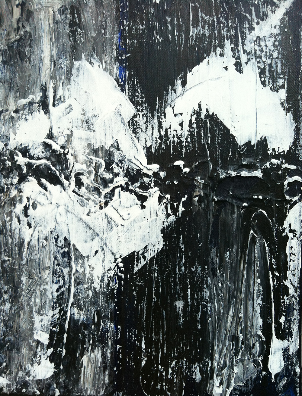 svartvit abstrakt konst